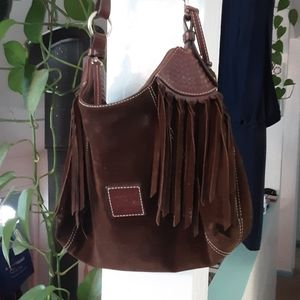 Dooney & Bourke leather purse with fringes